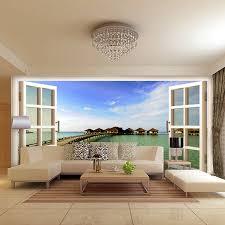 heißer raumelemente studie wohnzimmer fenster sofa tv wand hintergrund tapeten 3d großes wandbild tapete ozean wand abdeckt