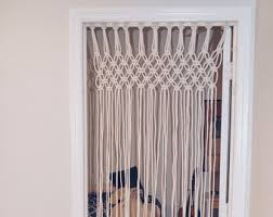 BOHO Home Decor Hand Made Beaded Macrame Door Curtain