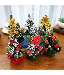Desk Christmas Tree Mini Decor Table Small Party Ornaments Gift Desktop