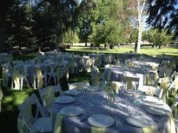Round Table Setting Ideas Set Up At Rancharrah Reno