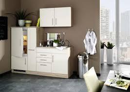 single küche 190 cm mit apothekerschrank und einbaukühlschrank