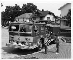Fire Truck At Lincoln Monument · Council Bluffs Public Library