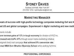 Resume Profile Template Sample Download How To Write A