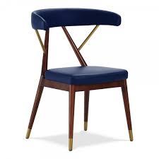 design reysenn holz esszimmerstuhl kunstleder polsterung blau