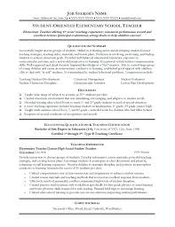 New Teacher Resume Examples Remarkable Design Teaching Cozy Ideas Best Resumes On Primary