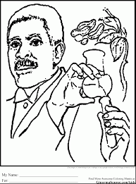 Terrific Black History George Washington Carver Coloring Sheets With Page And