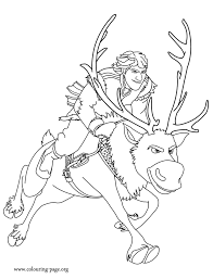 Kristoff And Sven Coloring Page