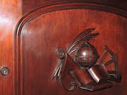 Drop Front Writing Desk by Large C1870 Renaissance Victorian Breakfront Desk Bookcase Chr Co