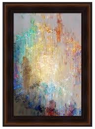 Vertical Format Framed Modern Wall Art Heart So Big Cianelli