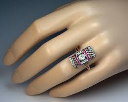 deco ruby and ring original deco ruby ring antique jewelry vintage
