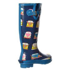 womens girls flat wellie wellington festival rain boots westie dog
