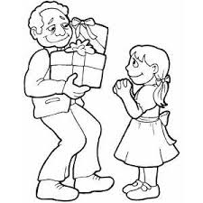 Gift Giving Coloring Page