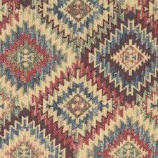 Blue Beige Red And Green Diamond Southwest Style Upholstery Fabric By The Yard