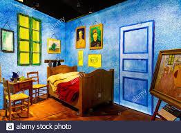 vincent goghs schlafzimmer in arles stockfotos und