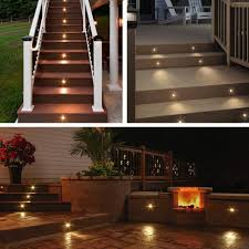 Solar Lights For Deck Stairs by 100 Malibu Solar Fence Lights Lighting Outdoor Fence Lighting