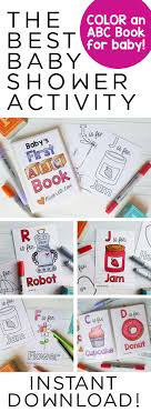 Printable ABC Coloring Book Baby Shower Activity SamanthaBDesign