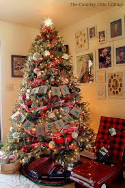 Farmhouse Christmas Tree With Plaid Ornaments The Country Chic Regarding Plan 15