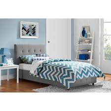zinus upholstered button tufted platform bed with headboard and