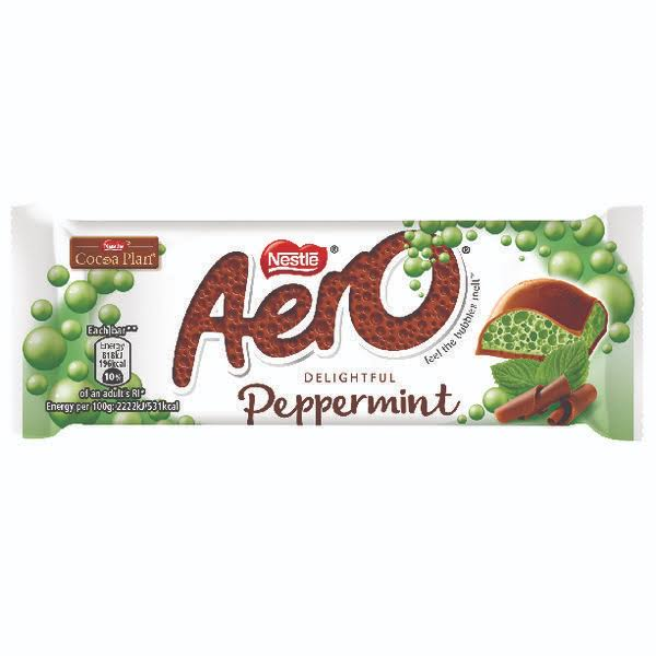 Nestle Aero Chocolate Bar - Peppermint Mint, 36g