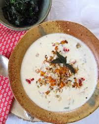 Spicy Pumpkin Butternut Squash Soup by Spicy Butternut Soup With Walnut Parmesan Crisp Recipe Sinkology