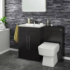 Vellamo Aspire 1100mm 2 Door Combination Basin Toilet Unit Black Ash