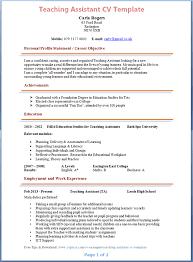 Teachers Assistant Resume