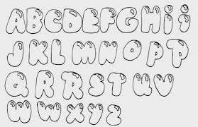 Bubble Letter Fonts Letters Generator Coloring Pages Word Font In
