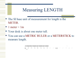 06 Ps300 Making Measurements Using The Metric System Notes Ke