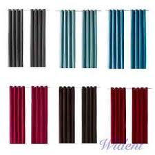 sanela curtains turquoise ikea sanela pair of curtains 2 panels blackout 118 ebay