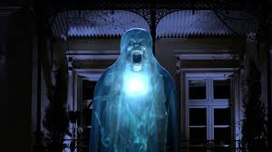 Halloween Flying Ghost Projector by The Atmosfx Digital Projector Makes Decorating Scarily Easy
