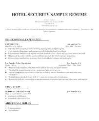 Security Guard Skills Resume Examples And Samples Us Template