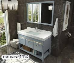 moderne nordic bad schrank kombiniert mit massivholz boden smart spiegel amerikanischen bad bad schrank waschbecken zähler