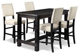 Jackson 5-Piece Pub-Height Dinette Set - Dark Grey And Cream 54 Pub Sets Tall Bar Tables And Chairs High Top Table Mix Match 9 Piece Counter Height Ding Set By Coaster At Dunk Bright Fniture 5 Details About 4 Wood Kitchen Dinette Room Breakfast Basil Luckyermore Rustic Wooden And For Small Spaces Camelia Espresso Stool Crown Mark Del Sol Black 5pc Sunny Designs Metro Flex Delightful Style Walmart Stools