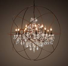 orb clear chandelier 44