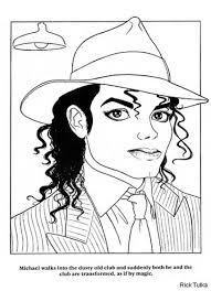 King Of Pop Michael Jackson Coloring Page