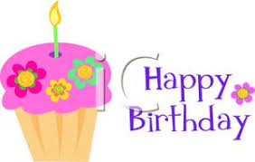 Clipart Image A Happy Birthday Cupcake