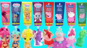 shimmer and shine peppa pig bath tub time finger paint soap