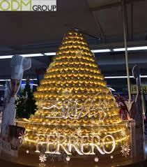 Ferrero Rocher Christmas Tree Stand by Unique Festive Pos Display By Ferrero Rocher