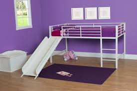 White Low Loft Bed With Desk by Pink White Loft Bed For Girls Features Desk Ladder And Storage