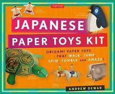Origami Paper Toys Kit 24 Japanese That Walk Jump Spin