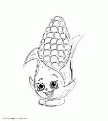 Dum Mee Free Shopkins Corny Cob Coloring Page That You Can Print