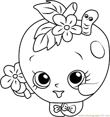 Free Coloring Sheets Shopkins Apple Pages 173 Worksheets For Kids
