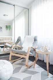 In The Nursery With NashStyling   Gray Nursery   Rocking ... Ikea Poang Rocking Chair Cream Wooden In Ss14 Basildon For A Gender Neutral Pastel Nursery With Mountain Mural J Jen White Lounge Model Axvall Baby Cartlands Tour Rocking Chairs Ikea Girlidolco Rockingchair Pong Birch Veneer Hillared Anthracite Fniture Enchanting For Your Living Hack Rocker In The Nashstyling Gray Julia Brunos Colorful And Airy Home Little One Stylish Cozy Attractive Inexpensive I K E
