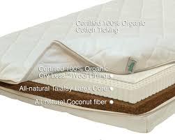 Natura Organic Baby Crib mattress Futon d or & Natural