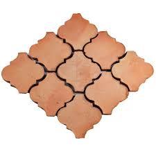 merola tile trevol lantern 6 in x 6 in terra cotta