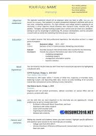 Resume Objective Examples Finance Internship Format