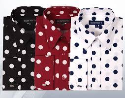 george u0027s men u0027s 100 cotton big polka dot pattern shirt with french