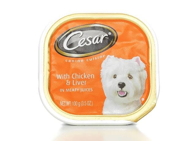 Cesar Classics Cat Food - Chicken & Liver In Meaty Juices, 100g