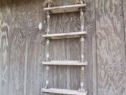 Decorative Wooden Oars And Paddles by Vintage Ladder Ladder Wall Shelf Boat Ladder Display