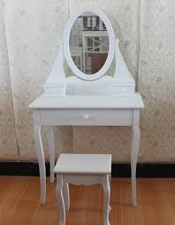 Ebay Dresser With Mirror by White Dressing Room Table With Oval Mirror And Stool Bedroom